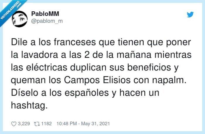beneficios,eléctricas,españoles,franceses