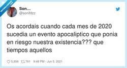 Enlace a Sobrevivimos al 2012, sobrevivimos al 2020, ¿es que no puede venir el apocalipsis de verdad de una vez?, por @sonifdzz