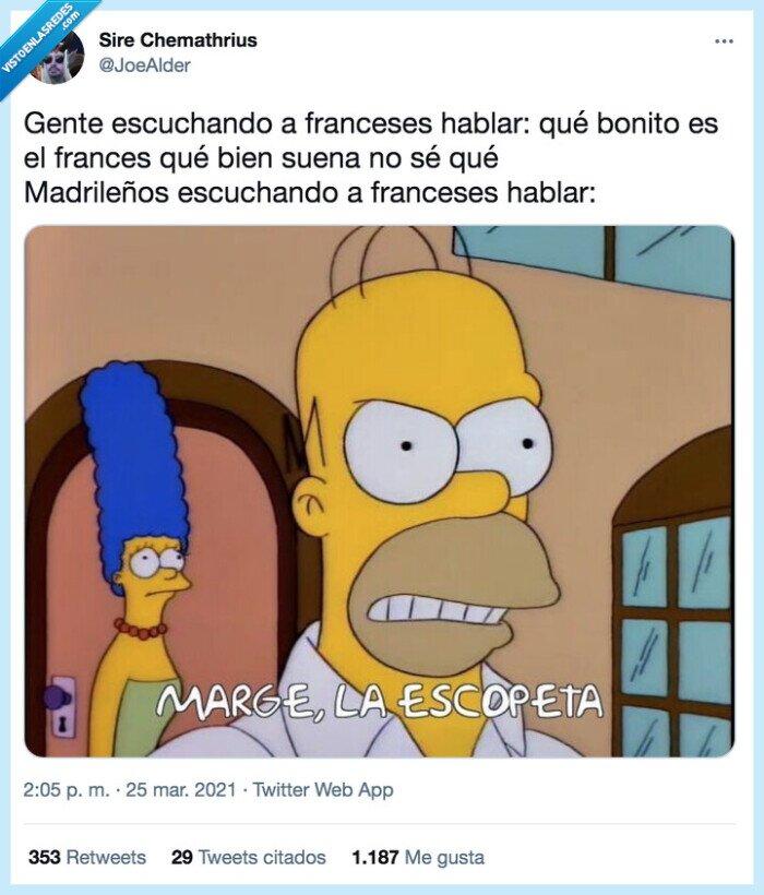 Escopeta,Franceses,Humor,Madrid,Simpson,Simpsons