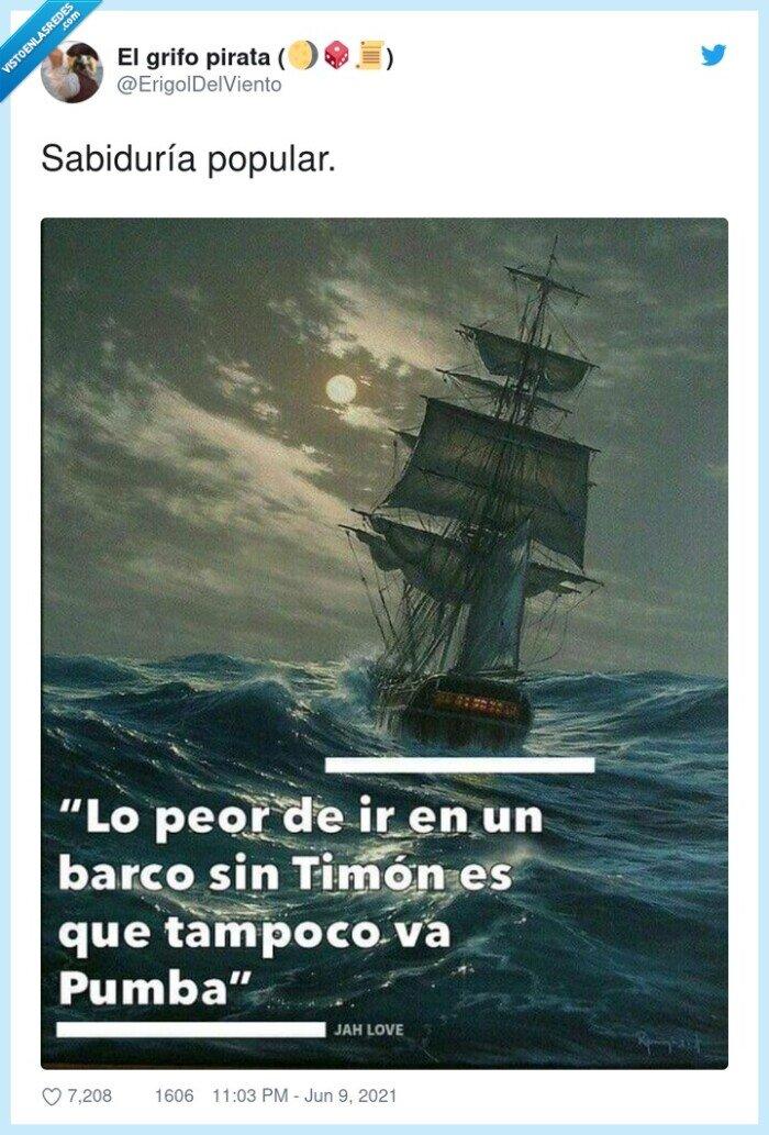 barco,popular,pumba,sabiduría,timon