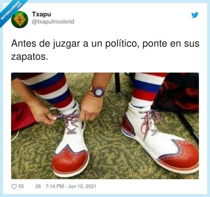antes,juzgar,político,ponte,zapatos
