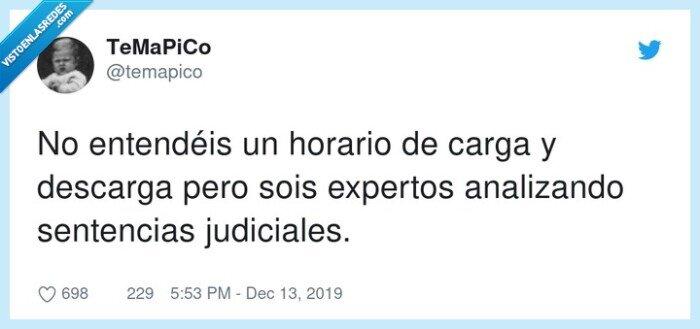 carga,descarga,expertos,sentencias judiciales