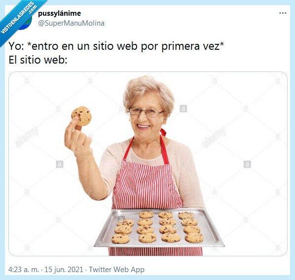 cookies,primera vez,web
