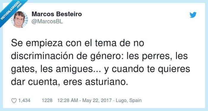 amigues,asturiano,discriminación