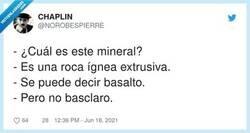 Enlace a Se puede decir basalto, por @NOROBESPIERRE
