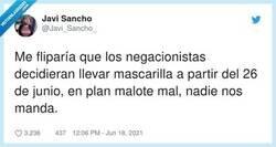 Enlace a Siempre llevando la contraria, por @Javi_Sancho_