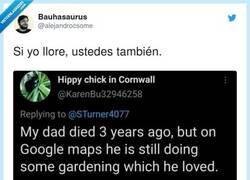 Enlace a Puede ver a su padre ya fallecido gracias a Google Maps, por @alejandrocsome