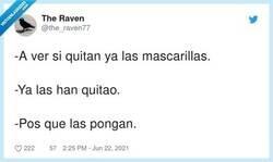 Enlace a La cuestión es llevar la contraria, por @the_raven77