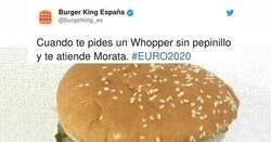 Enlace a Burger King España se ríe en la cara de Morata con hamburguesa dedicada a él, por @burgerking_es