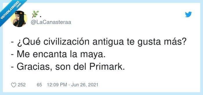 antigua,civilización,mayas,primark
