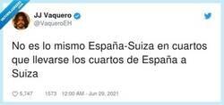 Enlace a Gente dividida en el España-Suiza, por @VaqueroEH