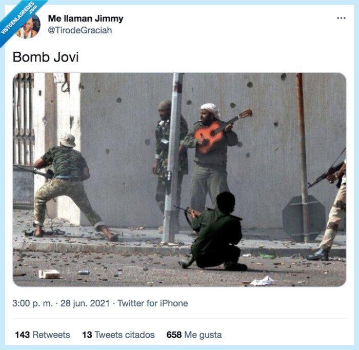 bombas,bon jovi,guerra,guitarra