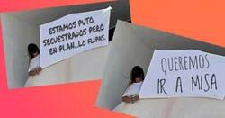 Enlace a Recopilación de las mejores pancartas-meme vistas en los balcones del hotel de Mallorca