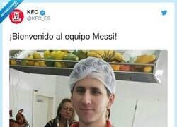 Enlace a Messi no tiene aún equipo porque está en @KFC_ES