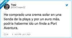 Enlace a Se te va media paga doble con las cremas de sol, por @TheTrooper37