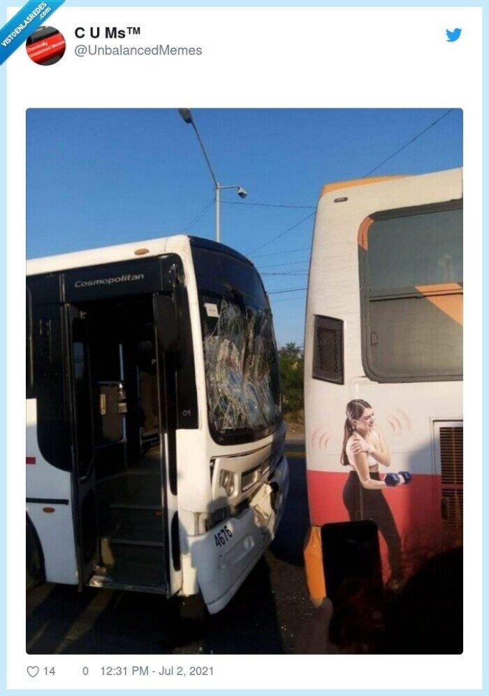 autobús,choque,daño,hombro,publicidad