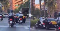 Enlace a Este taxista es el más buscado de España por embestir a este padre que iba en moto con su hijo