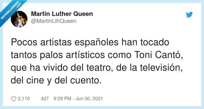 artistas,artísticos,españoles,teatro,televisión,toni cantó