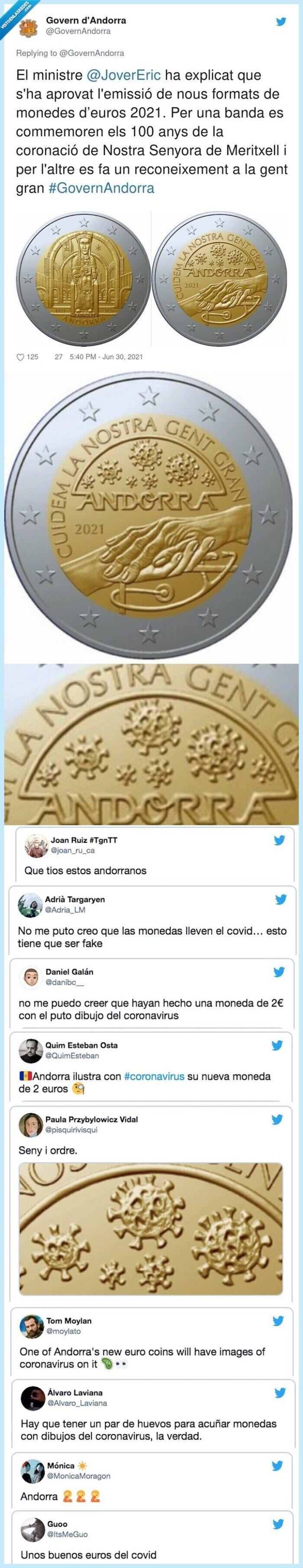 922167 - Todo el mundo está alucinando con la nueva moneda de dos euros de Andorra, y sí es lo que parece