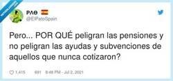 Enlace a Porque los que nunca han cotizado tampoco han trabajado y les pagan por no hacer nada, por @ElPatoSpain