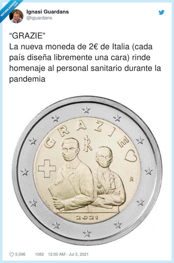 euro,grazie,homenaje,libremente,moneda,pandemia