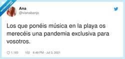 Enlace a A los que ponen la música alta y gritan en cualquier parte que no sea un lugar deshabitado, por @vianabanjo