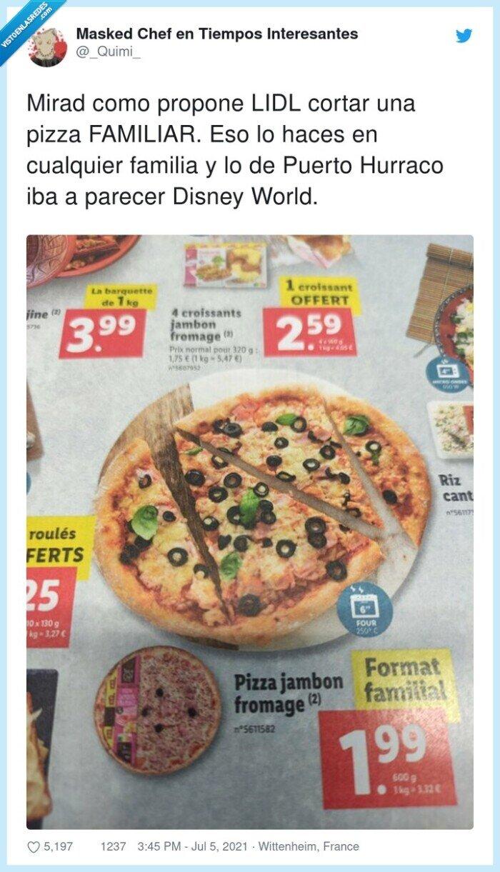 cortar,familia,familiar,lidl,pizza