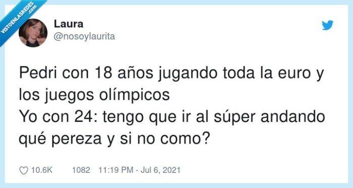 juegos olímpicos,jugar,pedri,pereza