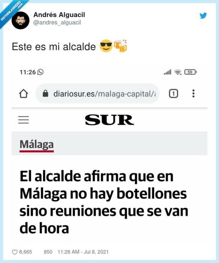 alcalde,botellón,malaga