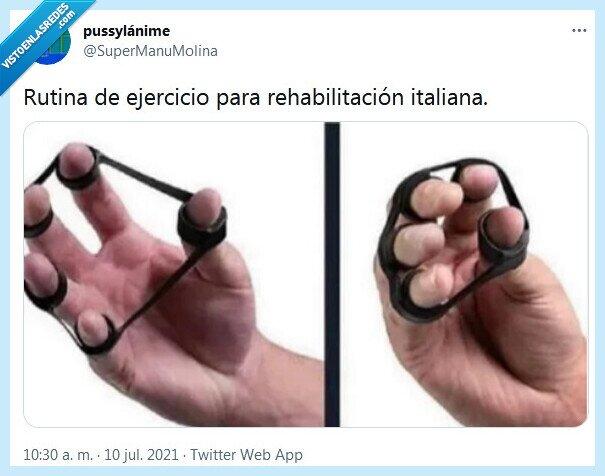 ejercicio,italiana,rehabilitación,rutina