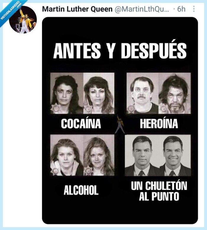Alberto Garzón,chuletón,Meme,Pedro Sánchez