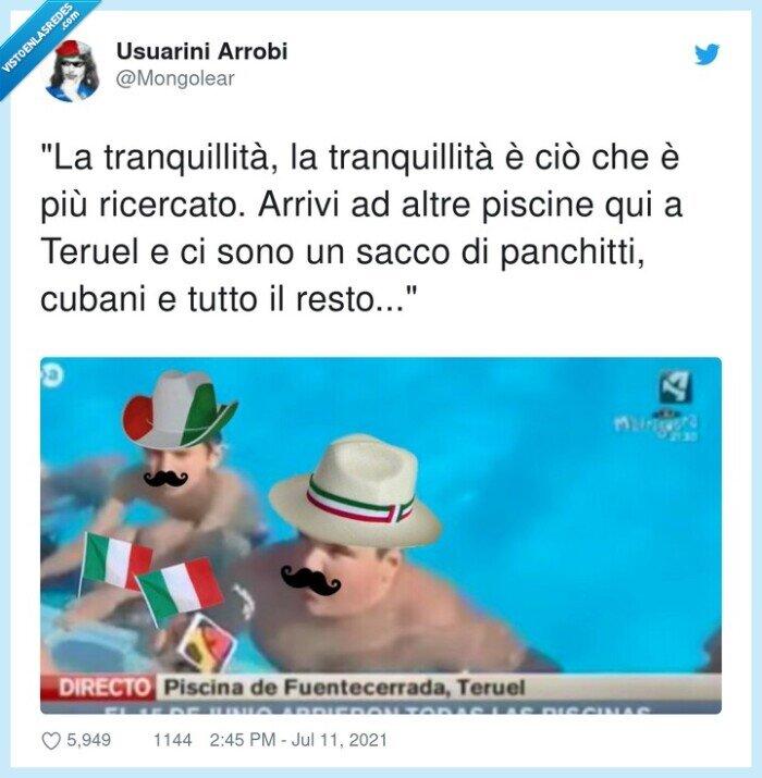 arrivi,italianos,memes,panchitti,piscina,piscine,ricercato,tranquillità