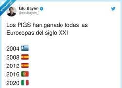 Enlace a Los PIGS quitando la Euro a los que inventaron la palabra PIGS , por @edubayon_