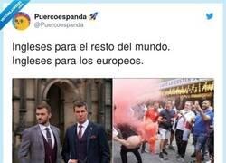 Enlace a Las dos caras de los ingleses, por @Puercoespanda