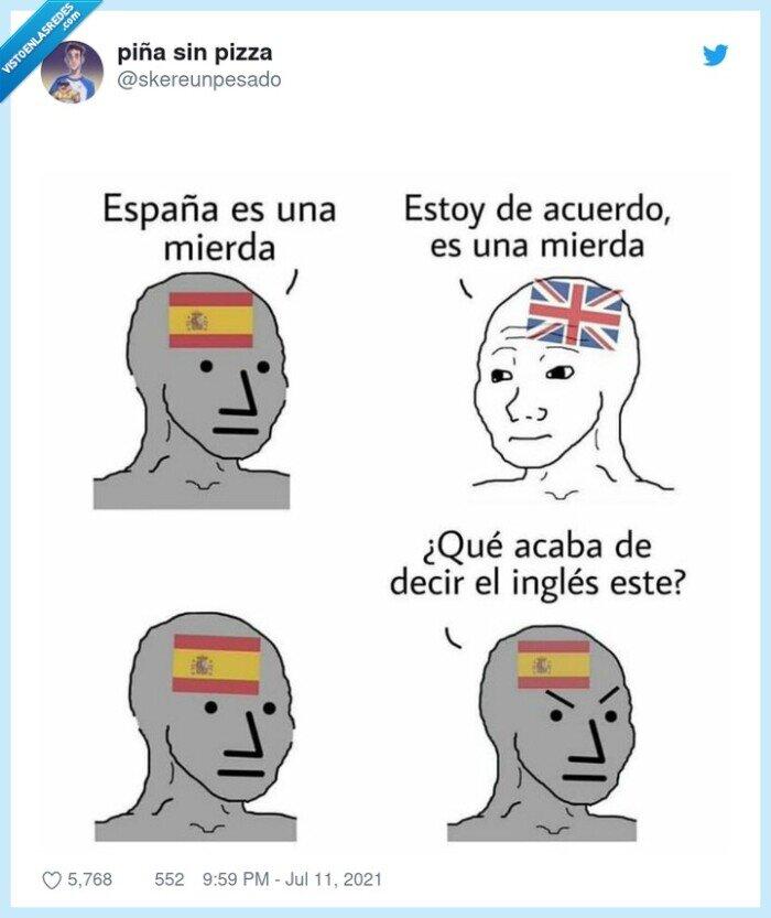 españa,inglés,insultar,mierda