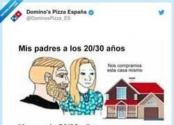 Enlace a Domino's rehace el meme de la pobreza millennial y lo clava, por @DominosPizza_ES