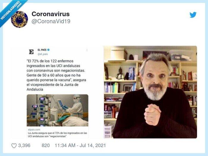 coronavirus,ingresados,negacionistas,sin vacunar,uci,vacunados