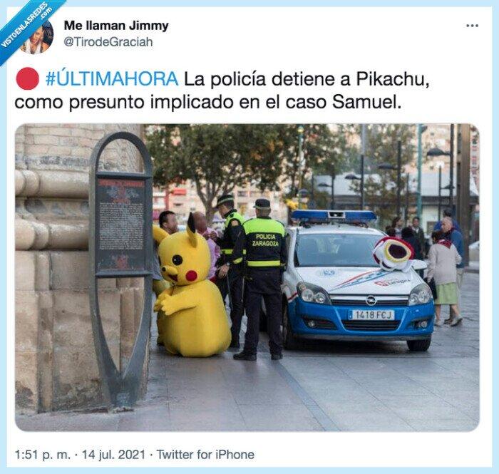 #últimahora,detención,implicado,pikachu,policía,presunto