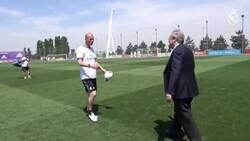 Enlace a Florentino saludando a la plantilla, por @Mrlopera__