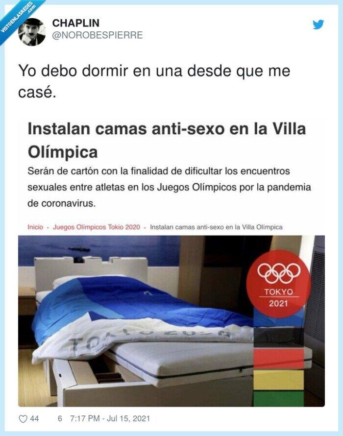 cartón,dormir,jjoo,juegos olímpicos