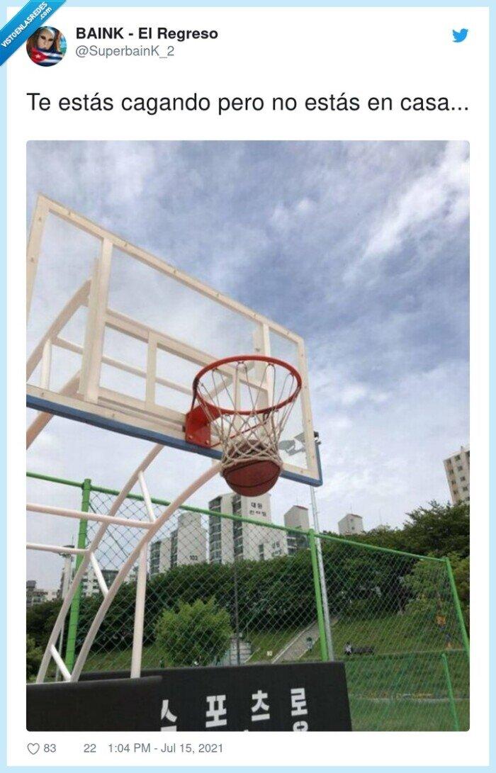 baloncesto,cagarse,canasta,pelota