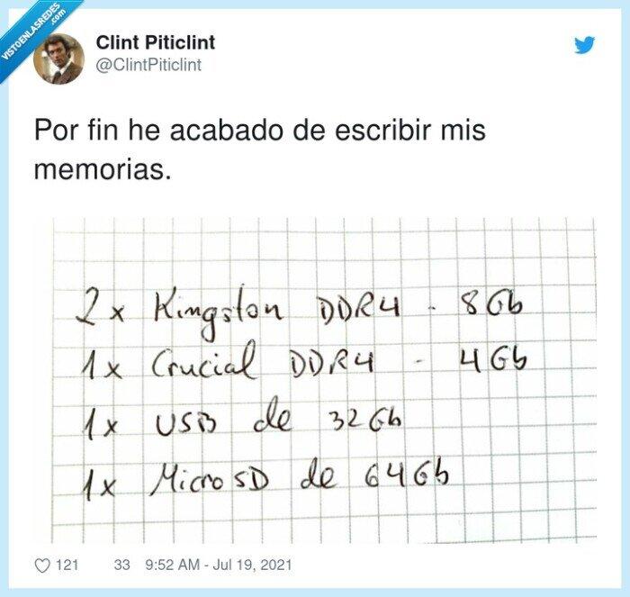 escribir,memorias