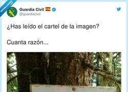Enlace a ¿Así que ahora puedo cagar en el bosque?, por @guardiacivil