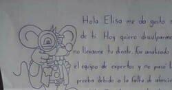 Enlace a A un niño se le cae un diente, y el ratoncito Pérez le escribe esta carta-escarnio en vez de traerle un regalo, por @TeneisMe
