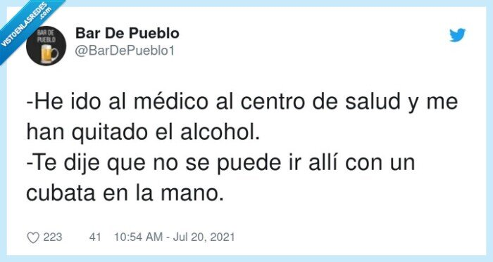 alcohol,centro,cubata,médico,quitar,salud