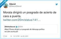 Enlace a Camacho dirigirá un posgrado de retórica, por @SiberetSiberet