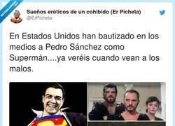 Enlace a Casado, en un rincón oscuro, al enterarse que Clark Kent es en realidad Pedro Sánchez y, por @ErPicheta