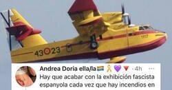 Enlace a Buen zasca a esta chica que se queja que los aviones para apagar incendios tienen los colores de España , por @mejoreszasca