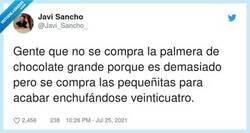 Enlace a Gente que dice que un bocata engorda, bocata normal no grande, y se come dos napolitanas, por @Javi_Sancho_