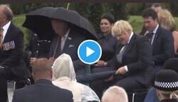 Enlace a Estas imágenes del Primer Ministro británico Boris Johnson con un paraguas parecen un capítulo de Mr Bean
